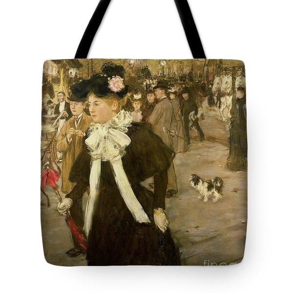Boulevard Des Italiens  Tote Bag by Jean Francois Raffaelli