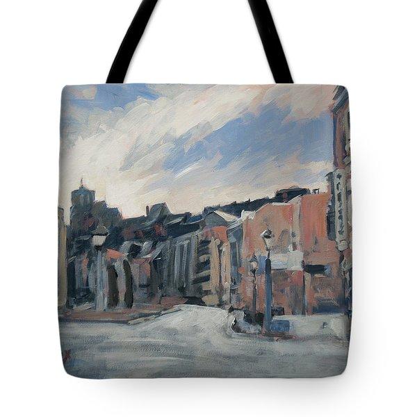 Boulevard La Sauveniere Liege Tote Bag