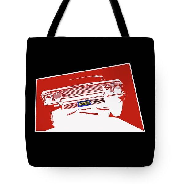 Bounce. '63 Impala Lowrider. Tote Bag by MOTORVATE STUDIO Colin Tresadern