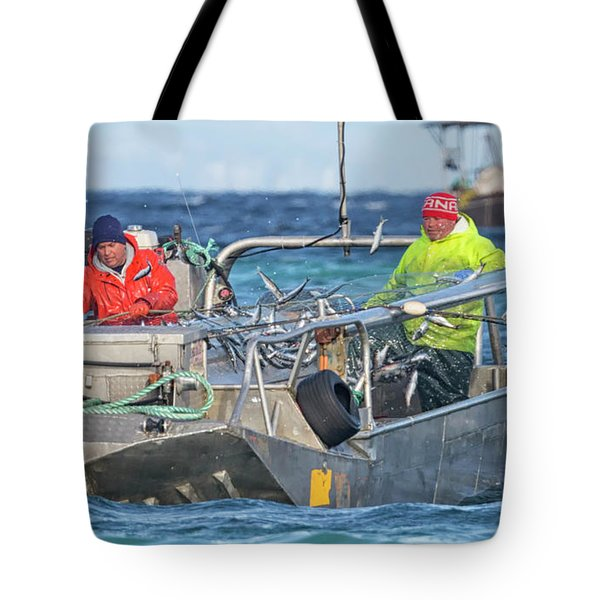 Tote Bag featuring the photograph Bouncing Herring by Randy Hall