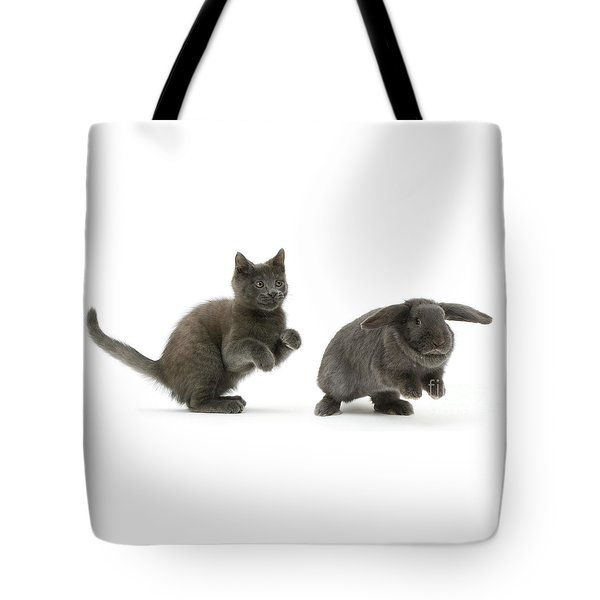 Bouncing With Bunny Tote Bag