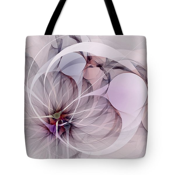 Tote Bag featuring the digital art Bound Away - Fractal Art by NirvanaBlues