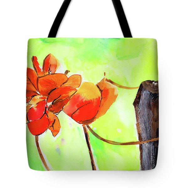 Tote Bag featuring the painting Bound Yet Free by Anil Nene