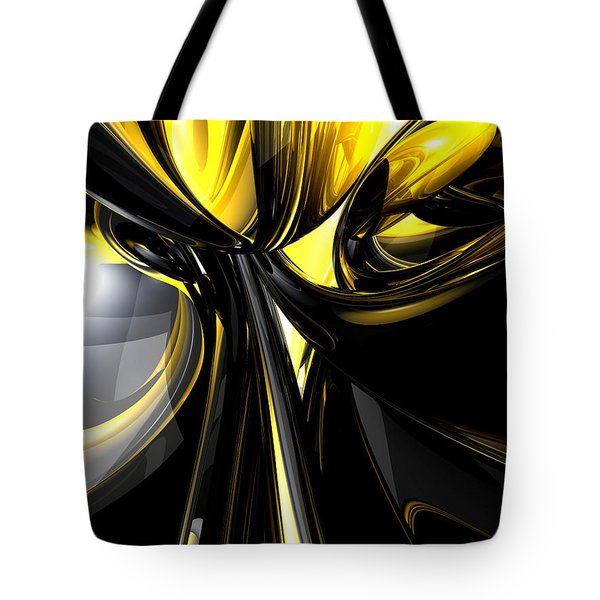 Bounded By Light Abstract Tote Bag by Alexander Butler