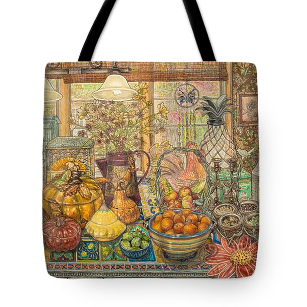 Bountiful Harvest Tote Bag by Bonnie Siracusa