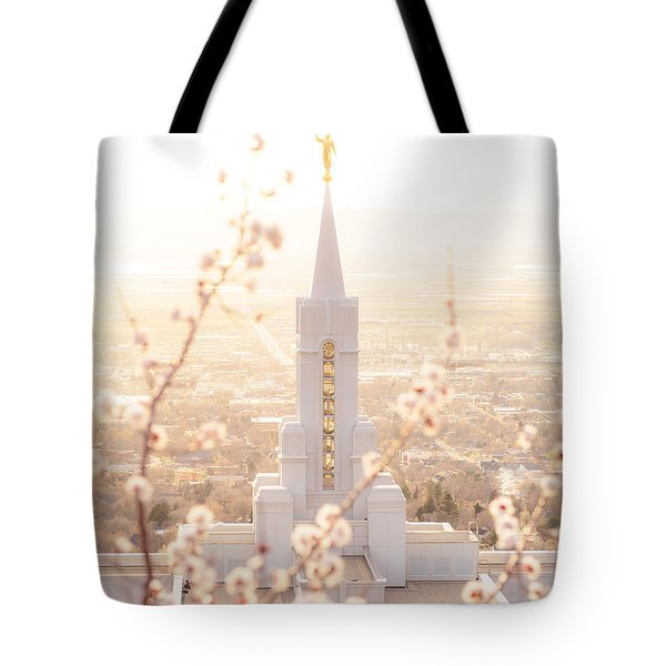 Bountiful Temple Blooms Tote Bag