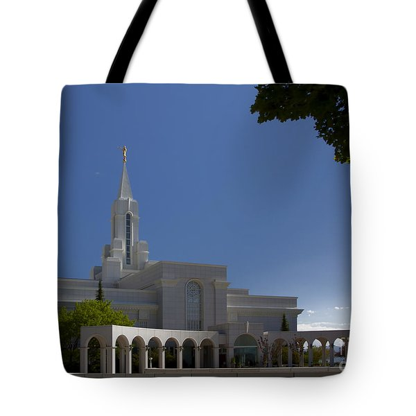 Bountiful Utah Temple Entrance Tote Bag