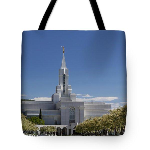 Bountiful Utah Temple In Spring Tote Bag