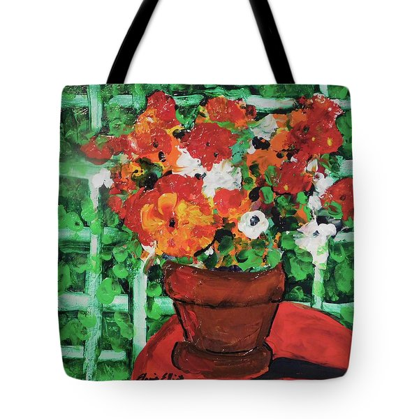 Bouquet A Day Floral Painting Original 59.00 By Elaine Elliott Tote Bag