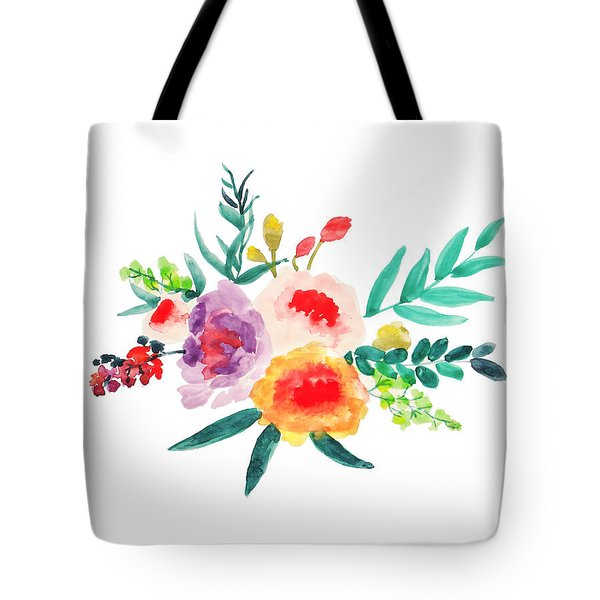Bouquet Chic Tote Bag by Rasirote Buakeeree
