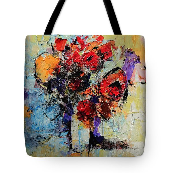 Tote Bag featuring the painting Bouquet De Couleurs by Elise Palmigiani