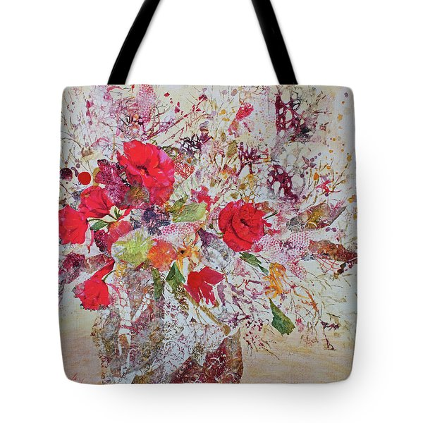 Tote Bag featuring the painting Bouquet Desjours by Joanne Smoley