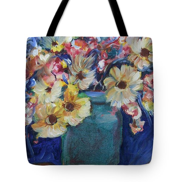 Bouquet Flowers Of Blue  Tote Bag