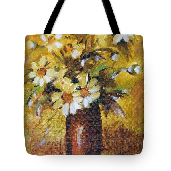 Bouquet Flowers Of Gold Tote Bag