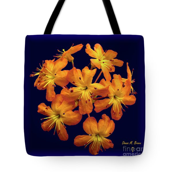 Tote Bag featuring the digital art Bouquet In A Box by Donna Brown