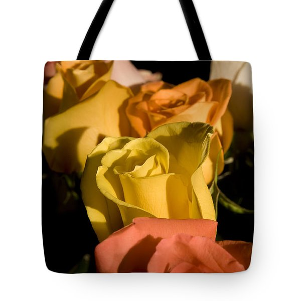 Bouquet In Line Tote Bag