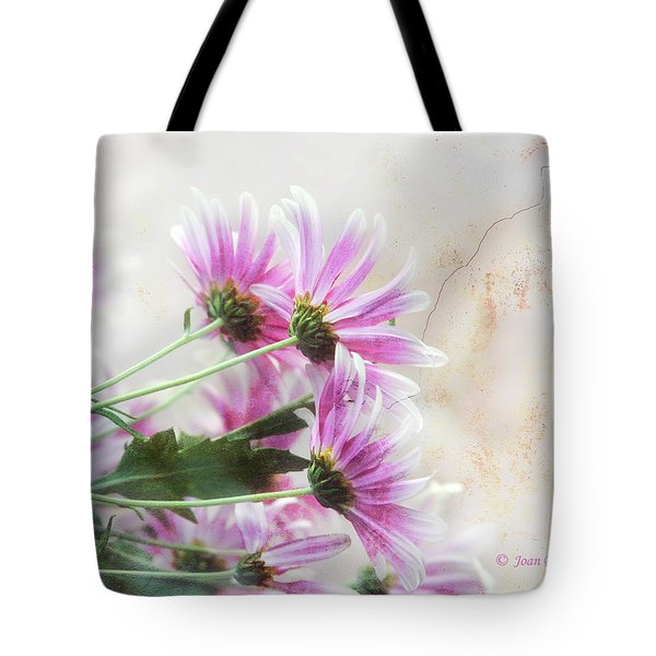 Tote Bag featuring the photograph Bouquet In Pink by Joan Bertucci