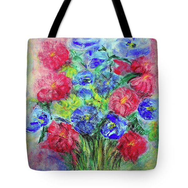 Tote Bag featuring the painting Bouquet by Jasna Dragun