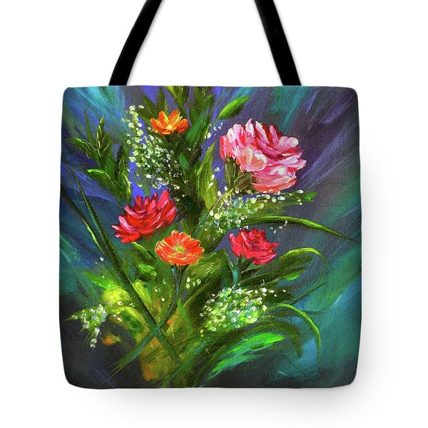 Tote Bag featuring the painting Bouquet by Mary Scott