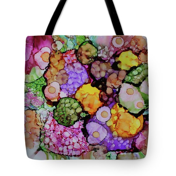 Tote Bag featuring the painting Bouquet Of Blooms by Joanne Smoley