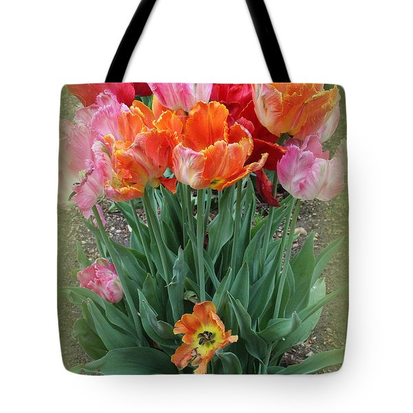 Bouquet Of Colorful Tulips Tote Bag by Dora Sofia Caputo Photographic Art and Design