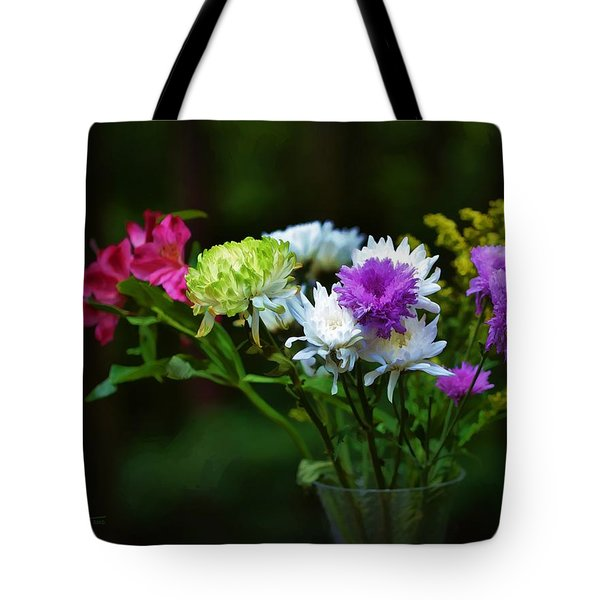 Tote Bag featuring the photograph Bouquet Of Flowers by Ludwig Keck