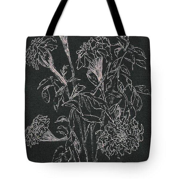 Tote Bag featuring the painting Bouquet Of Flowers  by Vicki  Housel