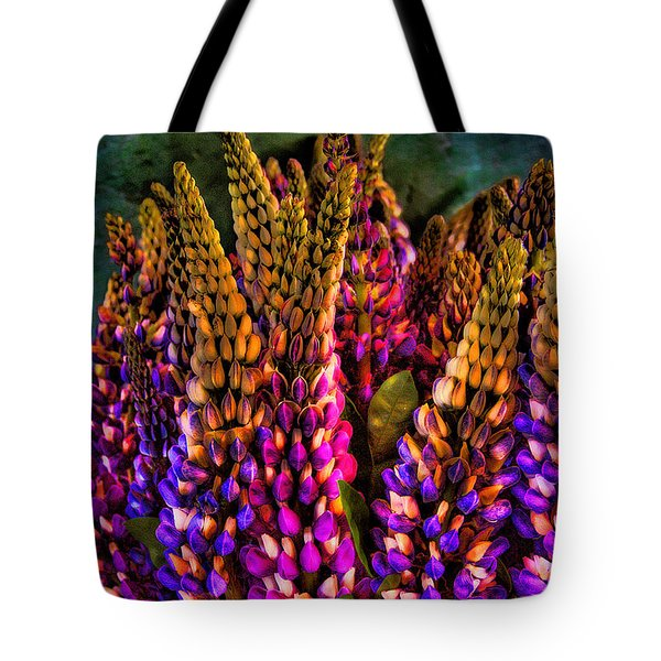 Bouquet Of Lupin Tote Bag by David Patterson