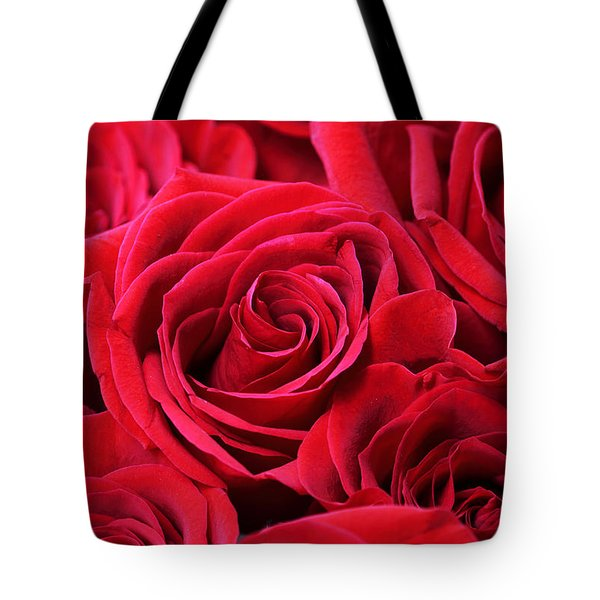 Bouquet Of Red Roses Tote Bag