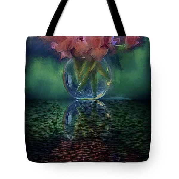 Bouquet Reflected Tote Bag