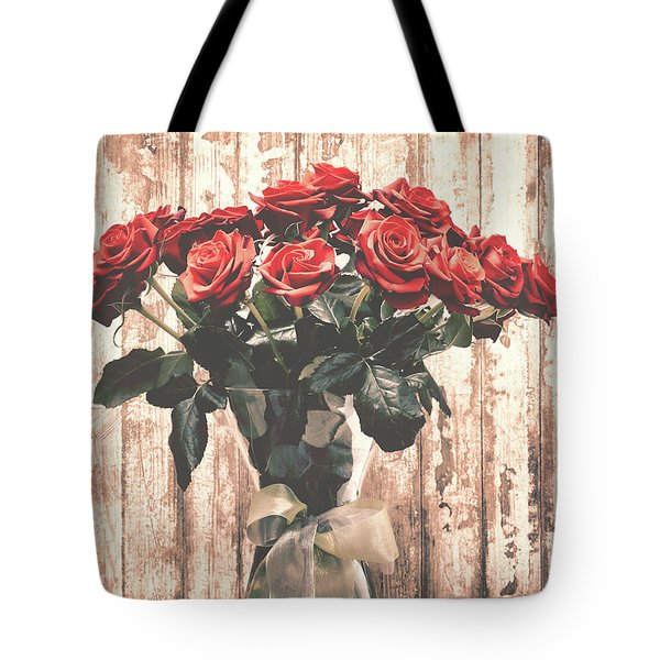 Bouquet Roses Tote Bag by Wim Lanclus