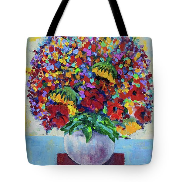 Bouquet With Two Sunflowers Tote Bag