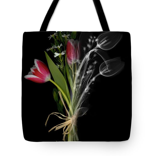 Bouquet X-ray Tote Bag by Ted Kinsman