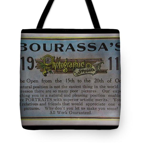 Bourassa's Photographic Studio Tote Bag by Al Bourassa