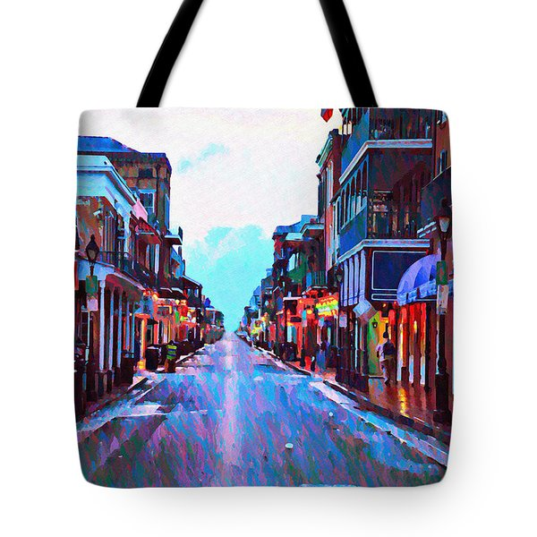Bourbon Street At Dawn Tote Bag by Bill Cannon