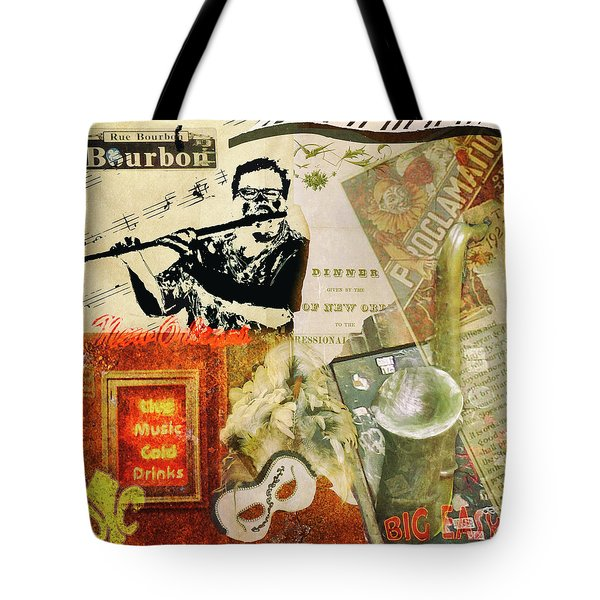 Bourbon Street Collage Tote Bag