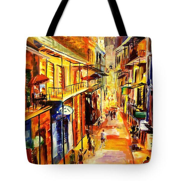Bourbon Street Glitter Tote Bag by Diane Millsap