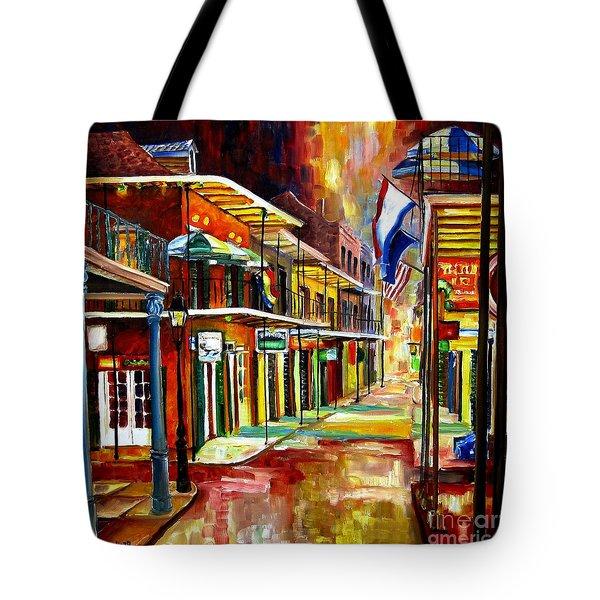 Bourbon Street Lights Tote Bag by Diane Millsap