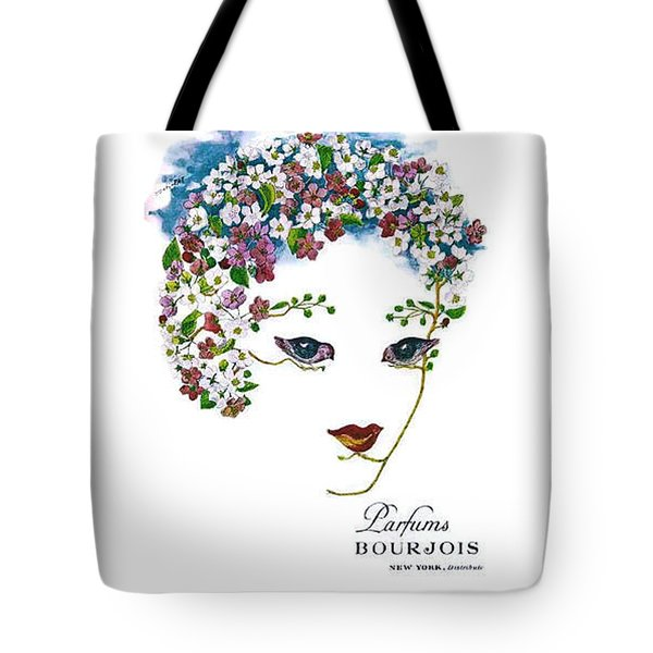 Tote Bag featuring the digital art Bourjois by ReInVintaged