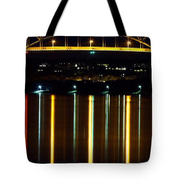 Bourne Bridge At Night Cape Cod Tote Bag by Matt Suess