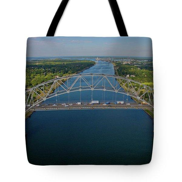 Bourne Bridge, Ma Tote Bag