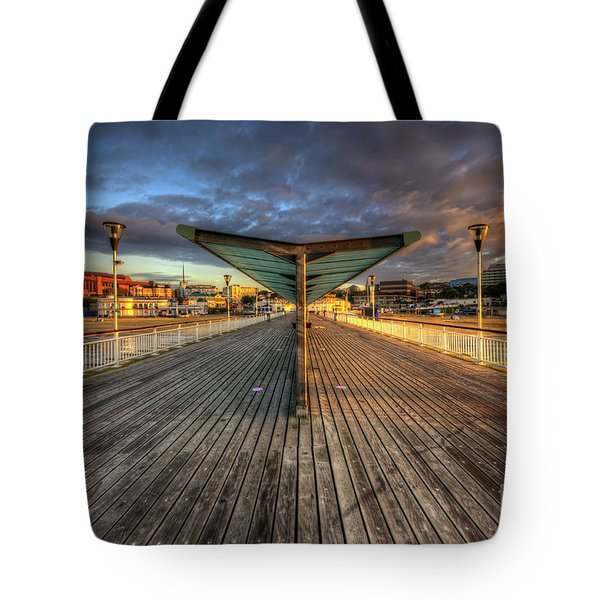 Tote Bag featuring the photograph Bournemouth Pier Sunrise 2.0 by Yhun Suarez