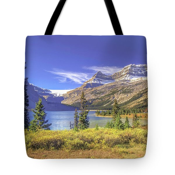 Tote Bag featuring the photograph Bow Lake 2005 01 by Jim Dollar