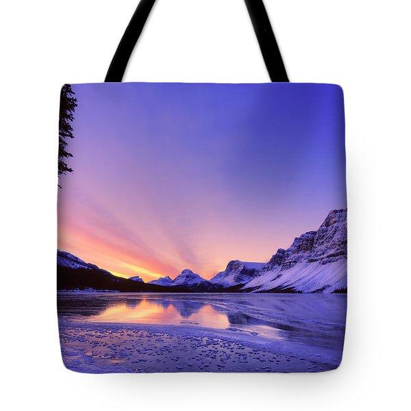 Bow Lake And Pine Tote Bag