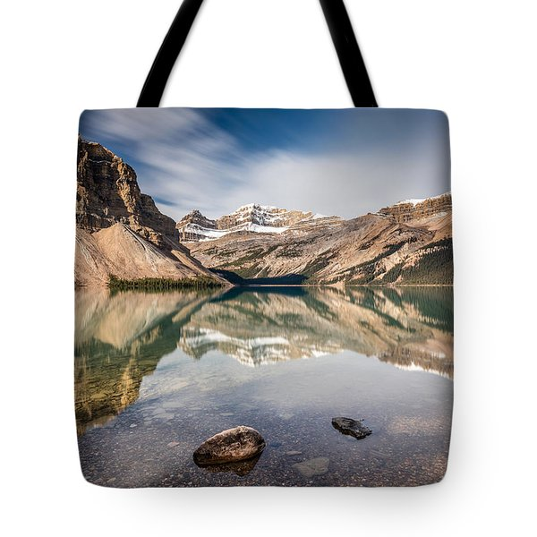 Bow Lake Glorious Reflection Tote Bag by Pierre Leclerc Photography