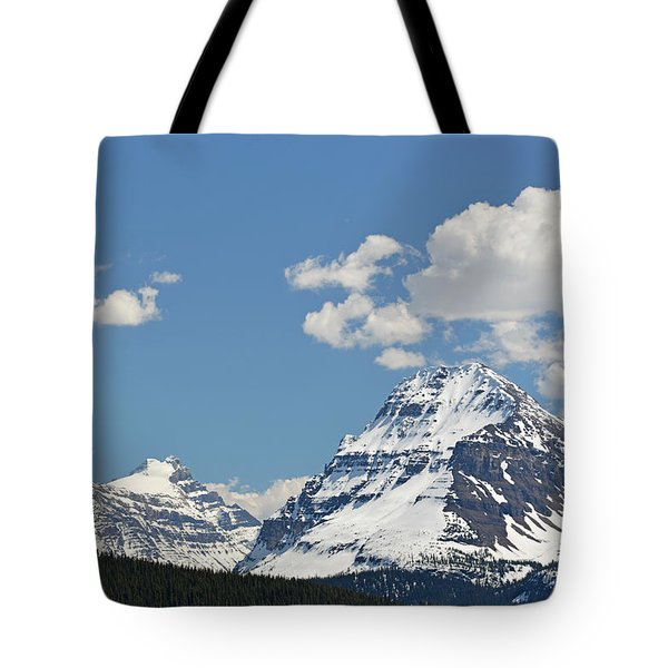 Bow Lake Mountains Tote Bag