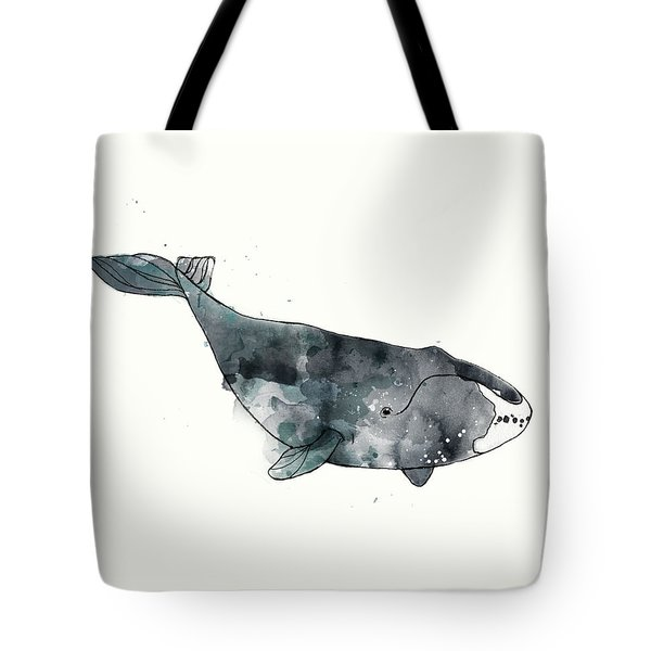 Bowhead Whale From Whales Chart Tote Bag by Amy Hamilton