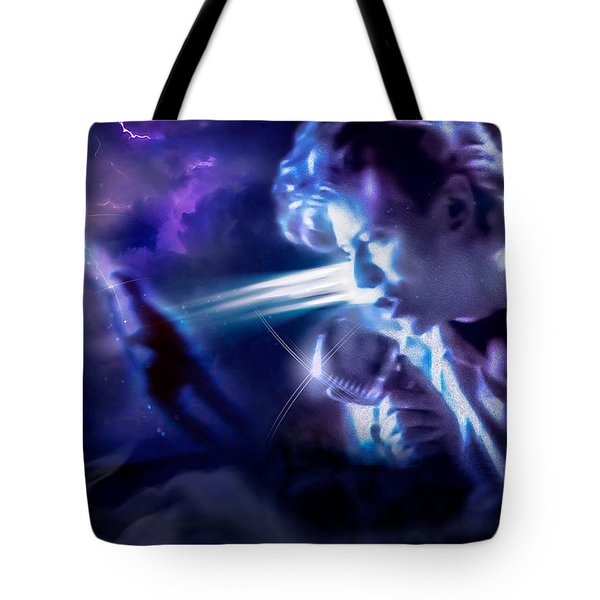 Tote Bag featuring the photograph Bowie A Trip To The Stars by Glenn Feron