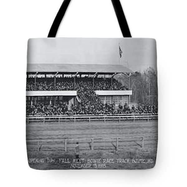 Bowie Race Track Bowie Md Opening Day Tote Bag