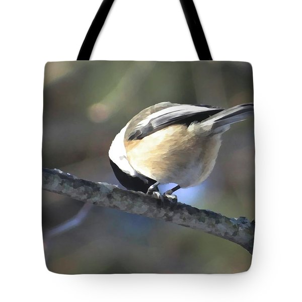 Bowing On A Branch Tote Bag
